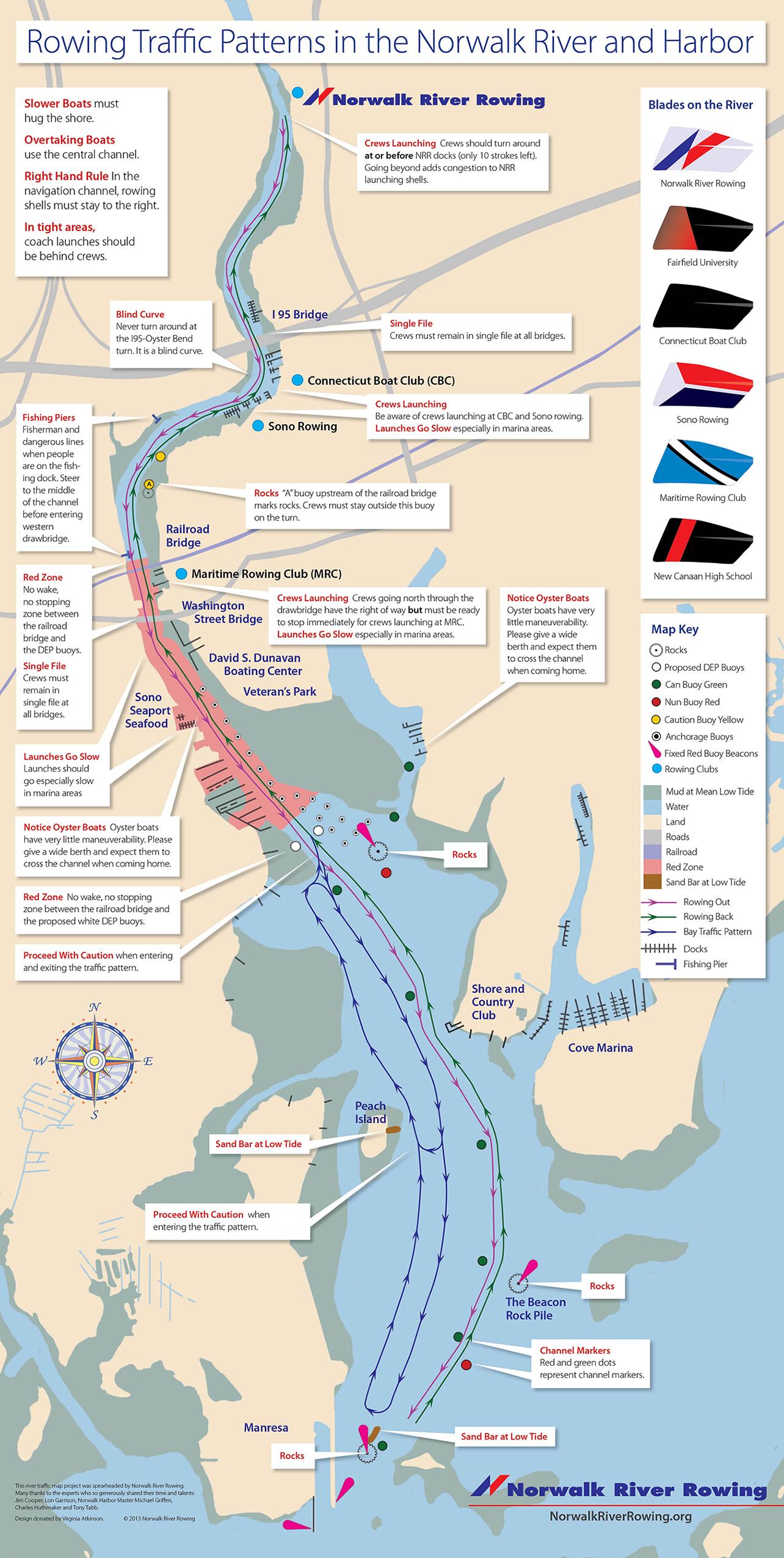 Norwalk River Rowing Patterns Norwalk River Rowing