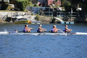 Kailyn Kiefer, Jess Magnoli, Natalie Partlow, Victoria Markow and Kelsey Ritchie racing Saturday at the Head of the Housatonic. Thanks to Rina Eidelberg for the photos.